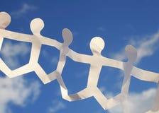 chain paper sky Fotografering för Bildbyråer