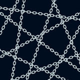 Chain pattern on black Royalty Free Stock Images