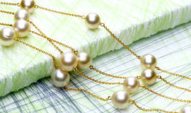 chain with Pearls royalty free stock image