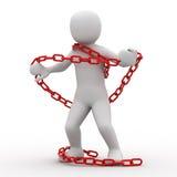 chain person 3d Royaltyfria Bilder