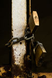 Chain and pod lock Stock Images