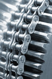 Chain powering gear Stock Photo