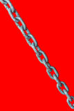 Chain on red background Stock Photos