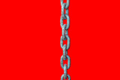 Chain on red background Stock Image