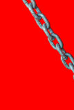 Chain on red background Royalty Free Stock Image