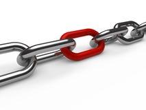 chain red för krom 3d Royaltyfri Fotografi