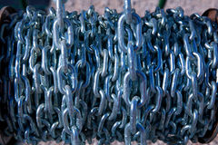 Chain reel hardware pattern background Royalty Free Stock Image