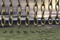 chain regn Arkivbild