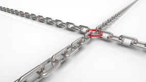 Chain with a ring Stock Images