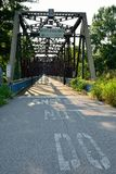 Chain of Rocks bridge on the Mississippi river. royalty free stock photos