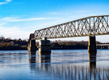 Chain of rocks bridge over the mississippi river royalty free stock photos