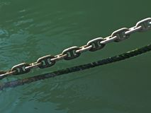 Chain and rope Royalty Free Stock Images