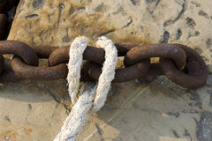 Chain and rope Royalty Free Stock Photo