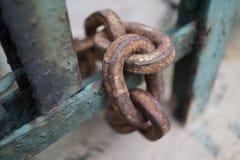 chain rostigt royaltyfri foto