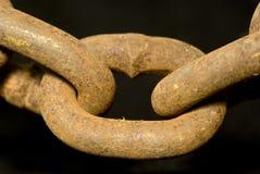 chain rostigt Royaltyfri Fotografi