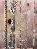 Chain with rusty metal surface Stock Photo