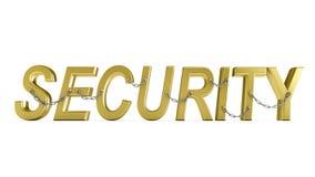 chain säkerhetsord Arkivbild