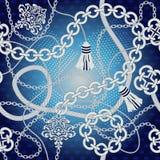 Chain sömlös bakgrund Royaltyfria Bilder
