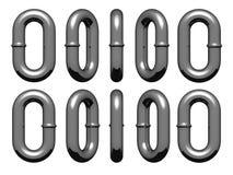 chain sammanlänkningar Arkivfoton