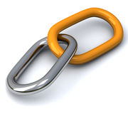 chain sammanlänkningar 3d Arkivfoto