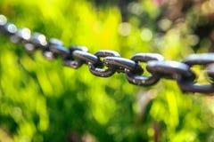Chain sammanlänkningar för järn Royaltyfria Bilder