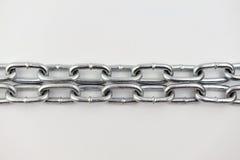 Chain sammanlänkningar för metall royaltyfri illustrationer