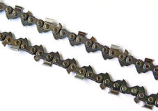 Chain from saw Royalty Free Stock Images