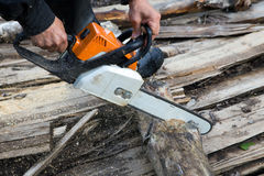 Chain saw Stock Photo