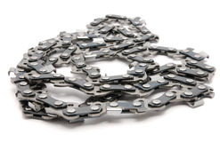 Chain for a saw Royalty Free Stock Images