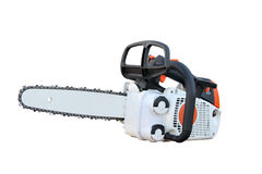 Chain saw. Separately on a white background Royalty Free Stock Photography