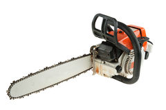 Chain saw. Is isoltaed on the white background Stock Photo