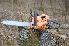 Chain Saw Royalty Free Stock Images
