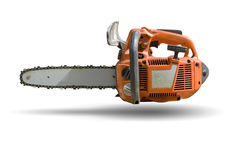 Chain Saw. Small Professional Chain Saw - Special Lightweight Design for Cutting Work stock image