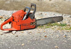 Chain saw closeup Royalty Free Stock Photo