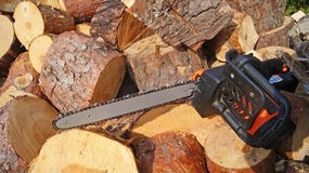 Chain saw electric Stock Photo