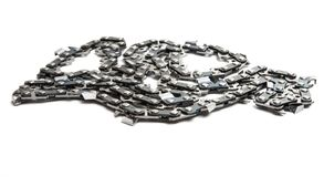 chain for saw isolated Royalty Free Stock Photography