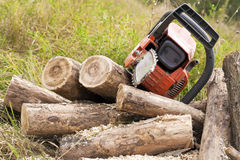Chain saws Stock Image
