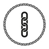 Chain Seamless Line and Closed in a Circle Royalty Free Stock Images