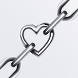 Chain Set 4. Chain Heart Set 4 Vector Drawing Royalty Free Stock Photo