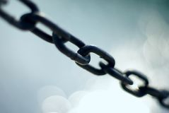 Chain shackles Stock Photo