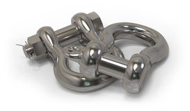 Chain shackles Stock Images