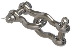 Chain shackles Royalty Free Stock Image