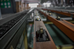 The chain and shaft drive Line Conveyor.  royalty free stock photo