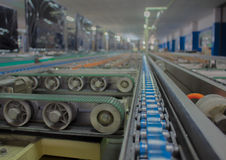 The chain and shaft drive Line Conveyor. The chain and shaft drive Line Conveyor Stock Photos