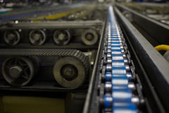 The chain and shaft drive Line Conveyor. The chain and shaft drive Line Conveyor royalty free stock photos