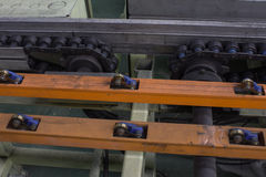 The chain and shaft drive Line Conveyor. The chain and shaft drive Line Conveyor stock image