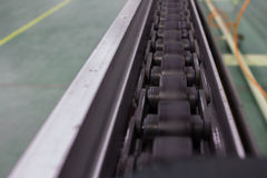 The chain and shaft drive Line Conveyor. The chain and shaft drive Line Conveyor Stock Photo