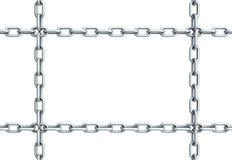 Chain in shape of rectangle Royalty Free Stock Photography