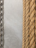 Chain and ship rope Royalty Free Stock Photo