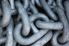 Chain in a shipyard Royalty Free Stock Image